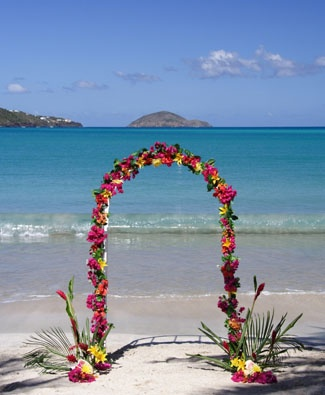 Beach Wedding in St Lucia